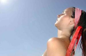 brozeando no sol