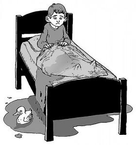 xixi na cama