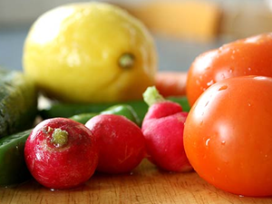 Desfrutar dos alimentos através das cores