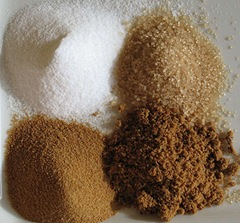 Tipos de açúcar: adoçante, sacarose e frutose