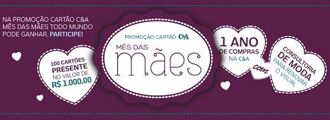 WWW.PROMOCAOCARTAOCEA.COM.BR, PROMOÇÃO CARTÃO C&A