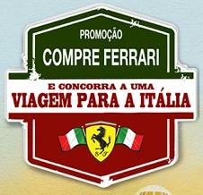 PROMOÇÃO COMPRE FERRARI E VIAJE PARA A ITÁLIA, WWW.GPFERRARI.COM.BR