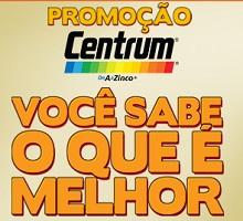 PROMOÇÃO CENTRUM VOCÊ SABE O QUE É MELHOR, WWW.PROMOCAOCENTRUM.COM.BR