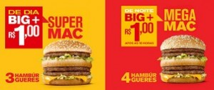 SUPER E MEGA MAC NO MCDONALD'S