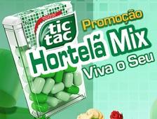 PROMOÇÃO TIC TAC HORTELÃ VIVA O SEU MIX, WWW.TICTAC.COM.BR/PROMOCAO