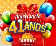 PROMOÇÃO ASSAÍ 41 ANOS, WWW.ANIVERSARIOASSAI.COM.BR