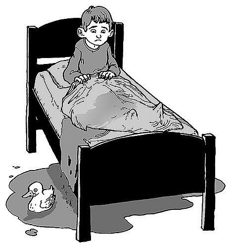 As crianças que fazem xixi na cama, porque não o controlam?