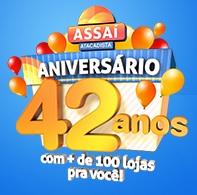 PROMOÇÃO ANIVERSÁRIO ASSAÍ 42 ANOS
